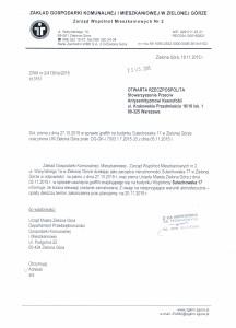 pismo ZWM Zielona Góra